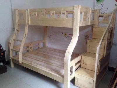 广西南宁上下铺木床 成人木床 家庭木床厂家价格