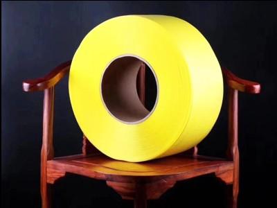 广西环保透明打包带 机用黄色全新料高强度价格优 PP透明打包带