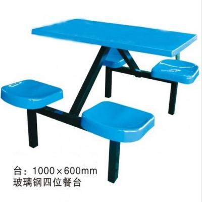 河池快餐桌 食堂餐桌椅 连体餐桌椅供应厂家