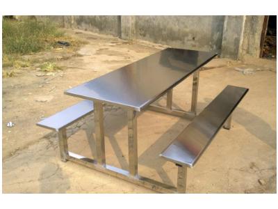 广西不锈钢餐桌椅 连体不锈钢餐桌椅 分体不锈钢餐桌椅工厂直销