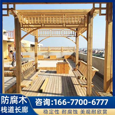 防腐木长廊栈道价格 厂家定制木围栏阳台凉亭 批发