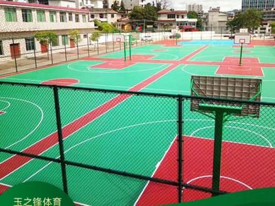 玉峰体育篮球场施工 幼儿园塑胶篮球场 篮球场施工价格