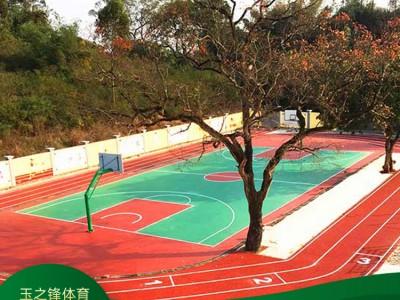 广西篮球场塑胶场地 小区塑胶篮球场 篮球场施工