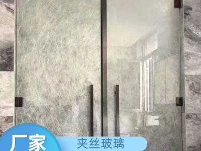 夹层艺术玻璃批发 广西厂家供应夹绢玻璃 夹丝玻璃价格 价格优惠
