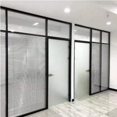 办公玻璃隔断 铝合金玻璃百叶隔断 玻璃隔断厂