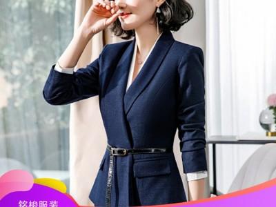 女士商务套装厂家现货直供 经典收腰职业套装 可来图定制