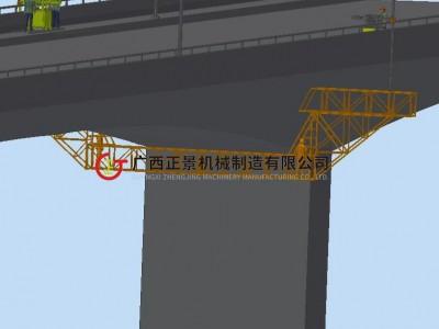 跨海大桥排水管安装车 大跨度吊篮车