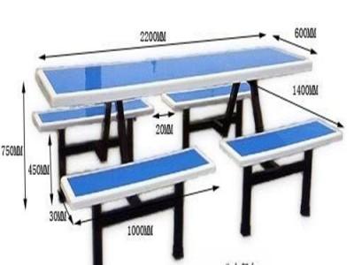 来宾小学生用餐桌椅 工厂加工 四人位餐桌椅