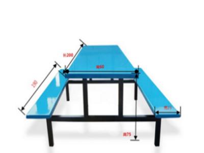 河池小学生餐桌椅  条凳餐桌椅  玻璃钢餐桌椅批发