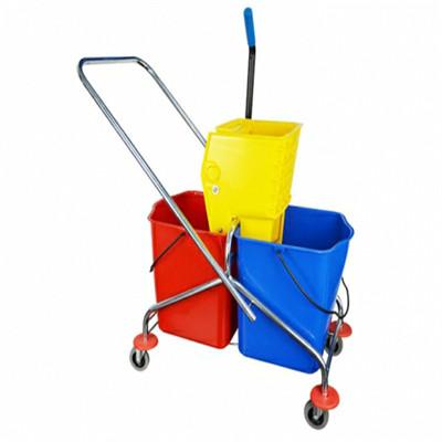 广西清洁工具 清洁剂 侧压双桶榨水车价格 侧压双桶榨水车批发