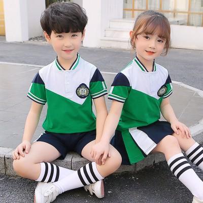 广西校服定制  裕方辉厂家高级定做小学生英伦风校服幼儿园园服夏季短袖