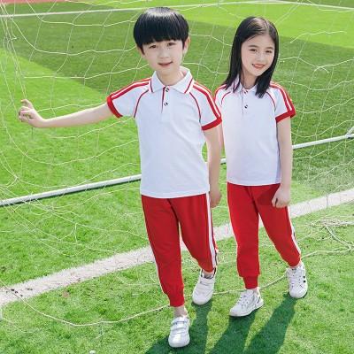 南宁校服定制   夏季新款校服 棉英伦风T恤套装幼儿园园服儿童班服定制