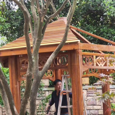 柳州菠萝格圆柱 领景 菠萝格木价格 工程设计