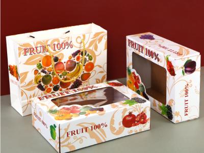南宁通用水果手提开窗礼盒定制瓦楞彩箱  南宁水果纸箱厂家直销