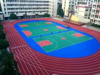 南宁运动场厂家 广西运动场施工 硅PU球场 EPDM跑道 混合型塑胶跑道 复合型塑胶跑道