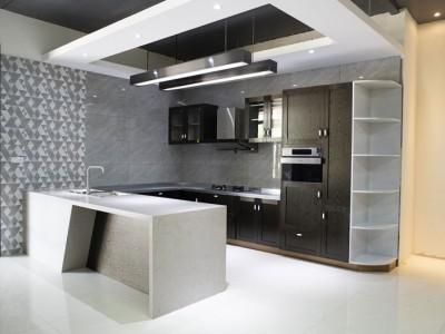桂厨橱柜定制304食品级不锈钢整体橱柜 桂林本地厂家直销