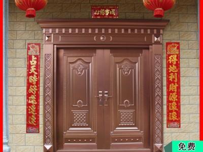 桂林金大吉厂家大量批发不锈钢镀铜门 热销新品双开四开子母镀铜门
