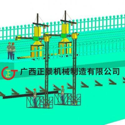 高速桥侧面排水管安装施工吊篮