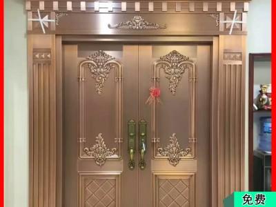 金大吉洛阳紫铜纯铜大门 厂家供应精雕细琢2020款高端大气真铜大门