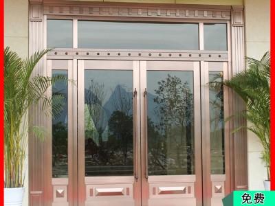 供应桂林镀真铜地弹迎宾门 款式玻璃都可定制 金大吉厂家批发