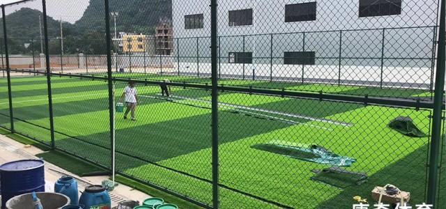 特写:在建中跑道 篮球场 足球场 东亚糖业集团