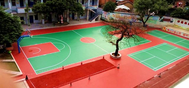 环保硅PU篮球场特点及铺设流程