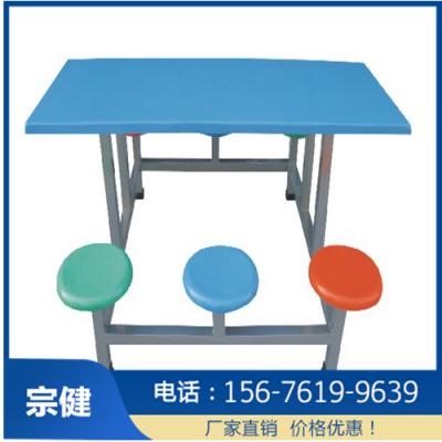 玻璃钢餐桌椅_四人位条凳餐桌椅
