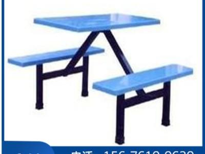 饭堂快餐桌_四人位条凳餐桌椅