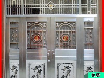 【金大吉门业】四开字母不锈钢本色大门 专业设计精美图案花纹搭配不变形不褪色