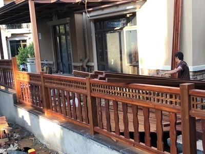 南宁防腐木护栏 领景园林 防虫木栏厂家
