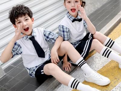 南宁市小学班服批发 2020年夏季新款校服 学院风幼儿园园服