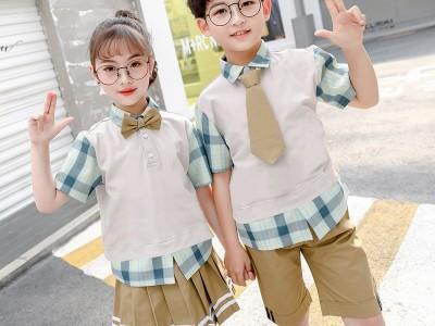新款男女校服 儿童套装校服 学院风幼儿园园服