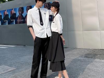 毕业校服女生裙子班服夏季套装学院风高中生学生短袖衬衫英伦韩版