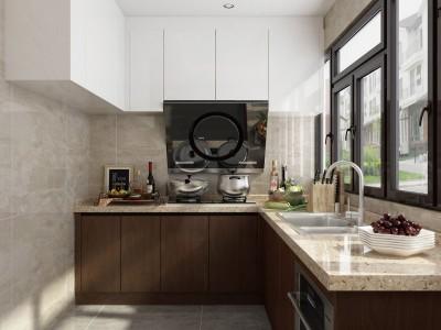 广西304食品级不锈钢整体橱柜租房用家用 桂厨轻奢经济型不锈钢橱柜