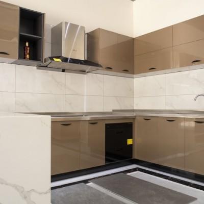 农村商品房家用不锈钢橱柜 量实际尺寸定制门板24种颜色可以自由选
