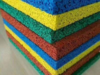 EPDM地胶地坪 EPDM橡胶地面 颗粒现浇幼儿园橡胶地面施工