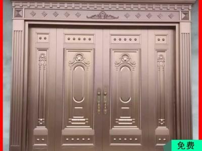 仿铜门进户大门五福临门 仿铜门定做 桂林铜门价格一般多少钱一平