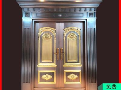 桂林单开别墅真铜门字母门 广西单开铜门厂家 免费设计样式