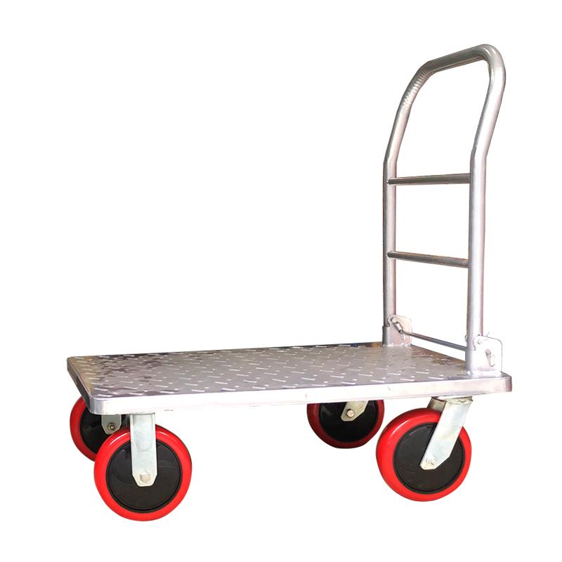 真牛平板车 70*45加厚版 折叠载重小推车 静音钢板平板车 支持定制小拖车