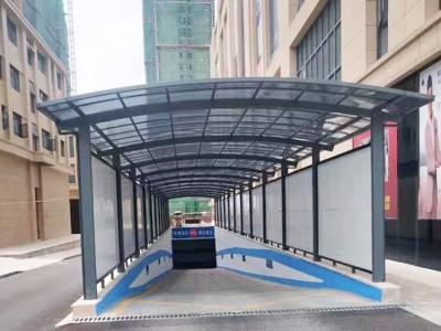铝合金雨棚生产厂家 供应停车场出入口雨棚批发 阳光棚车棚遮阳棚直销