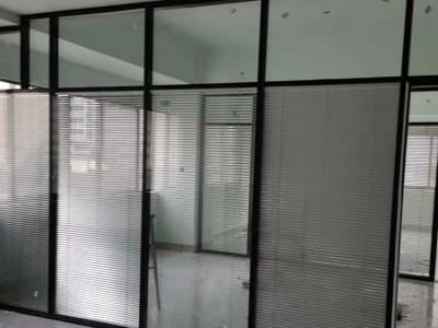 北海办公室隔断单层区域玻璃空间中空磁控百叶玻璃隔间厂家直销