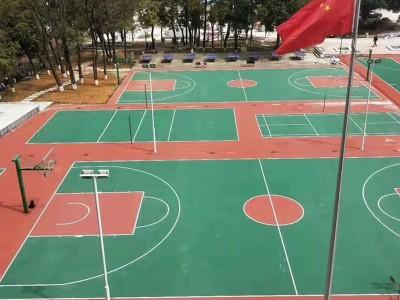 广西桂林市丙烯酸球场地坪材料厂家丙烯酸球场施工价格