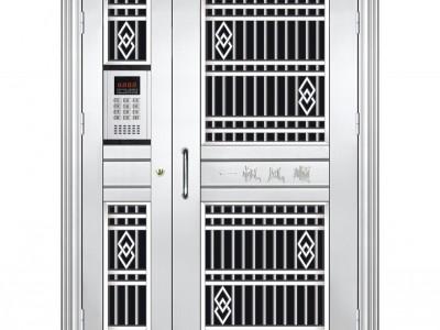 不锈钢对讲门 小区单元入户门 楼宇对讲门 楼道门 对讲系统安装