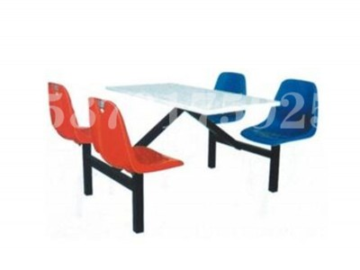 玻璃钢餐桌椅 食堂玻璃钢桌椅批发 4人位餐桌椅