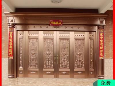 双开铜门定制 广西铜门厂家 高端铜门价格优惠