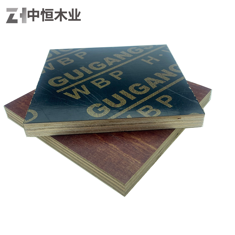 建筑模板 红模 货源充足物美价廉 黑模覆膜板批发 中恒出品