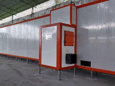 铝合金锌钢型材静电喷塑喷粉固化流水生产线