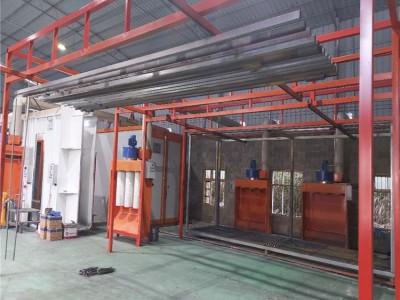 防盗网烤漆喷粉设备生产线 防盗网烤漆喷粉生产线定制
