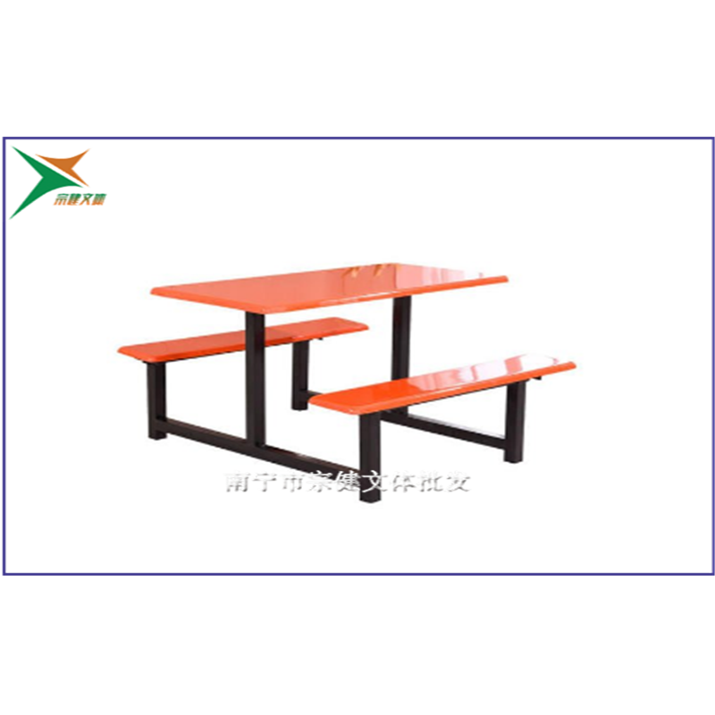 柳州食堂餐桌椅怎么卖_四人位玻璃钢餐桌