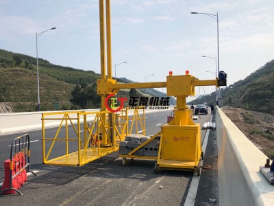 桥梁翼板安装泄水管施工设备